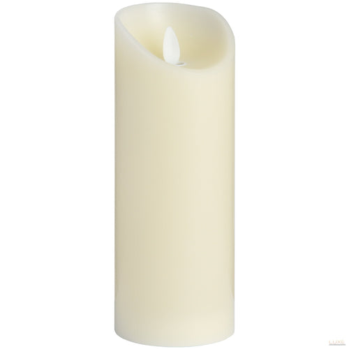 3 x 8 Cream Flickering Flame LED Wax Candle - LUXE Home Interiors