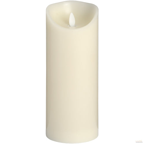 3.5 x 9 Cream Flickering Flame LED Wax Candle - LUXE Home Interiors