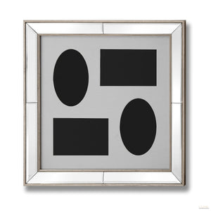 Mirrored Bordered Multi- Photoframe - LUXE Home Interiors
