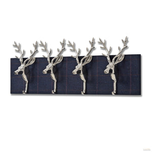 Jackdaw Yorkshire Tweed with Four Stag Coat hooks - LUXE Home Interiors