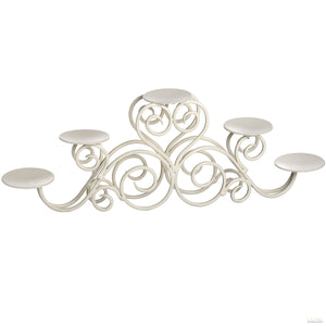 Ivory Five Candle Stand Candle Holder - LUXE Home Interiors