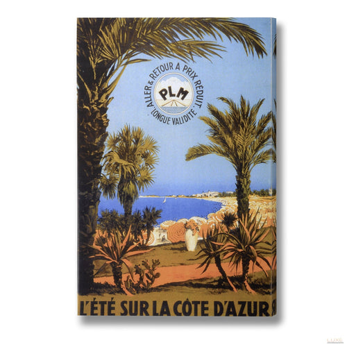 Summer in the Cote D'azur Post Card Canvas