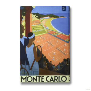 Tennis in Monte Carlo Post Card Canvas