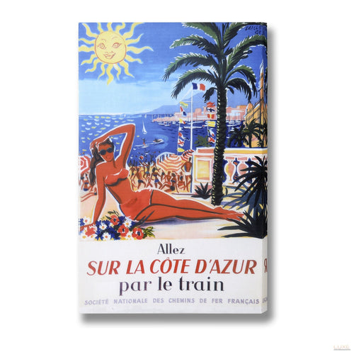 Monte Carlo Sunshine Post Card Canvas