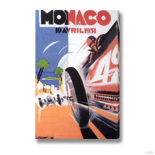Monte Carlo Racing Post Card Canvas