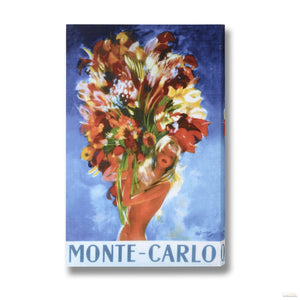 Beautiful Flowers Post Card Canvas
