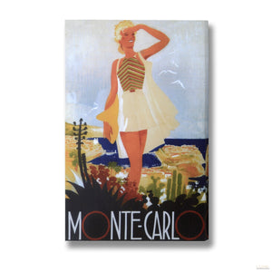 See Monte Carlo Post Card Canvas