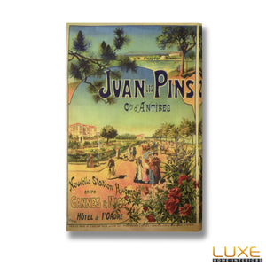Juan les Pins Post Card Canvas