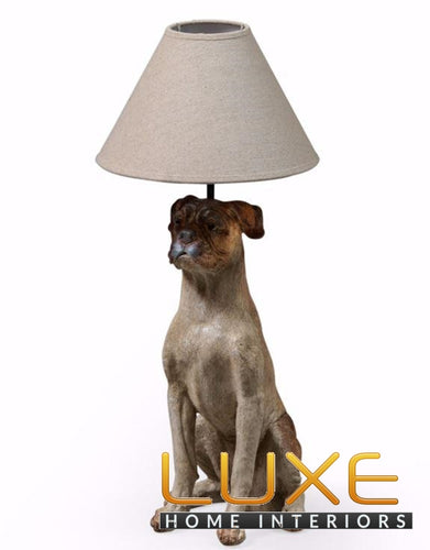 Luxe table lamps buy luxe table lamps at luxe home interiors sitting dog style table lamp with shade above aloadofball Choice Image