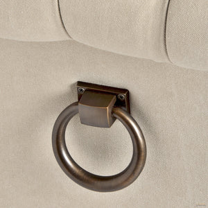 Roll Top Dining Chair With Ring Pull - LUXE Home Interiors