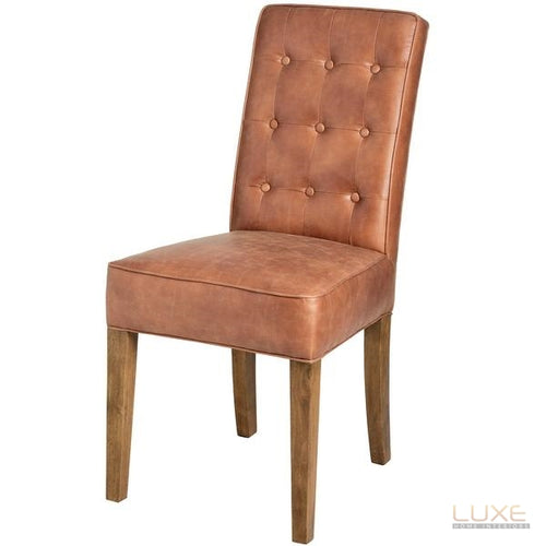 Tan Faux Leather Dining Chair