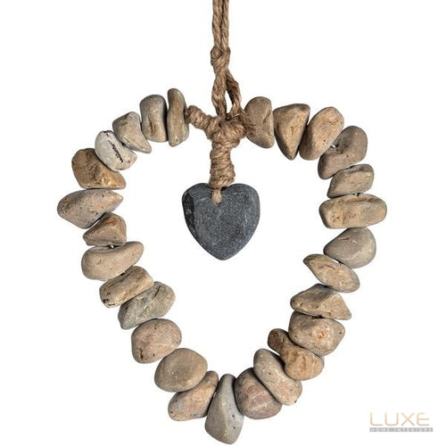 Heart Of Stone Hanging Ornament - LUXE Home Interiors
