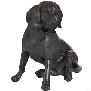 Sitting Spaniel In Antique Bronze - LUXE Home Interiors