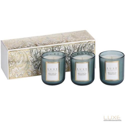 Allure Of The Sea Set of Three Candles By Luxe Collection - LUXE Home Interiors