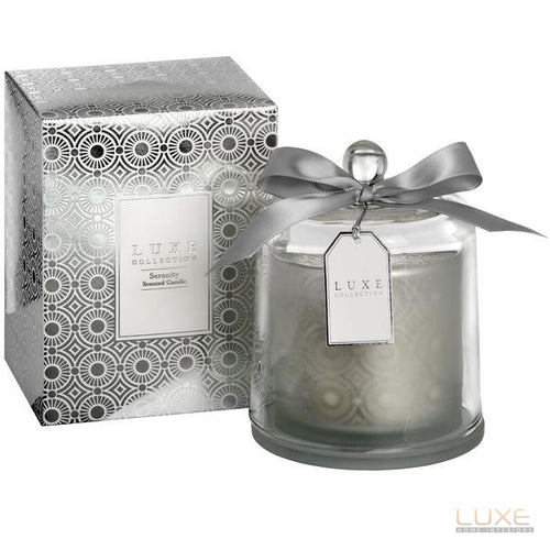 Serenity Large Candle With Cloche By Luxe Collection - LUXE Home Interiors