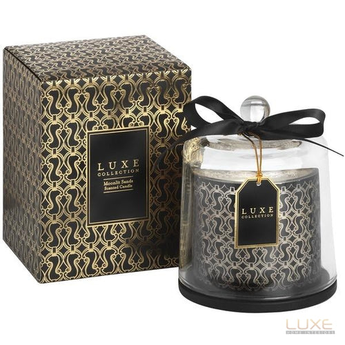 Moonlit Sands Large Candle With Cloche By Luxe Collection - LUXE Home Interiors