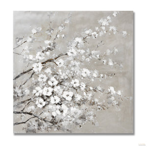 Cherry Blossom Painting on Wood