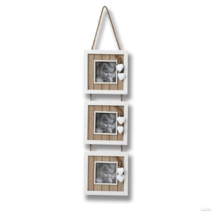 Hearts Collection 4x4 Triple Hanging Photo Frame