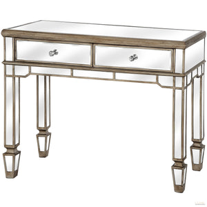 (PRE ORDER) The Belfry Collection 2 Drawer Mirrored Console Table - LUXE Home Interiors