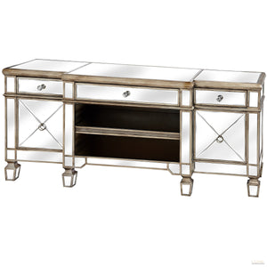 The Belfry Collection Mirrored Media Unit - LUXE Home Interiors