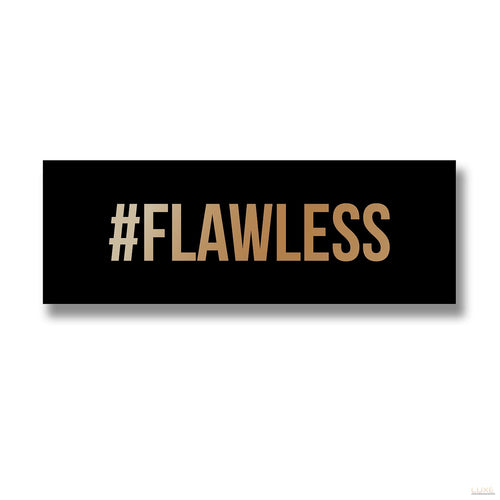 (PRE ORDER) Flawless Gold Foil Plaque - LUXE Home Interiors