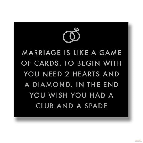 Marriage Is Like Metalic Detail Plaque - LUXE Home Interiors