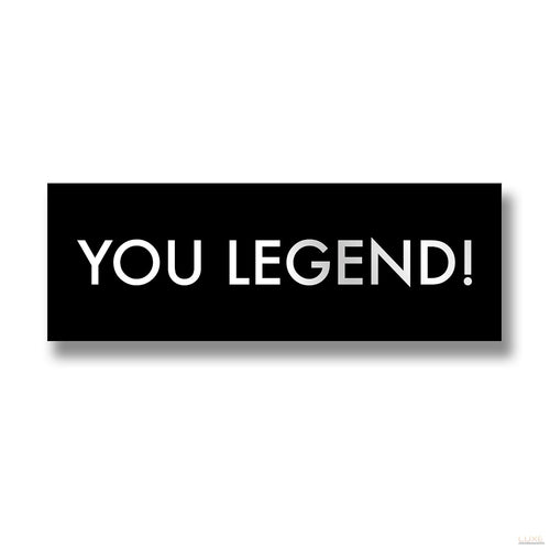 You Legend Metalic Detail Plaque - LUXE Home Interiors