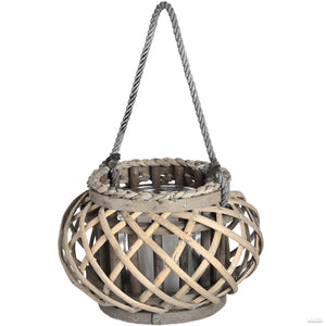Small Wicker Basket Lantern - LUXE Home Interiors