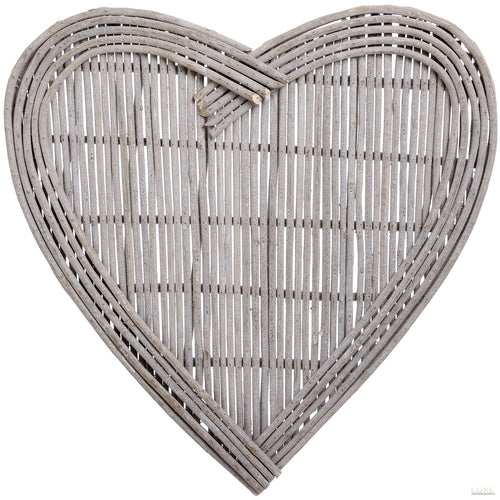 Large Heart Wicker Wall Art - LUXE Home Interiors