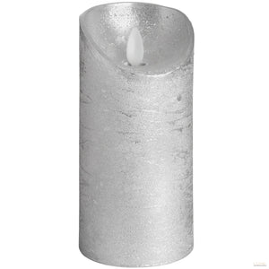 Luxe Collection 3 x 6 Silver Flickering Flame LED Wax Candle - LUXE Home Interiors