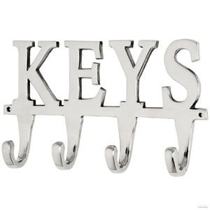 Large Nickel Key Hooks - LUXE Home Interiors