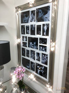 Large Antique Silver Ornate Multi Photo Frame   LUXE Home Interiors