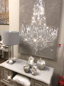 Textured Cement Effect Chandelier Wall Art - LUXE Home Interiors