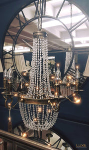 Antique Gold Venetain Chandelier - LUXE Home Interiors