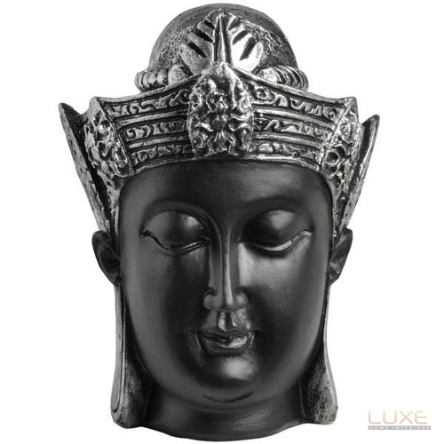 Buddha Head - black and silver - LUXE Home Interiors
