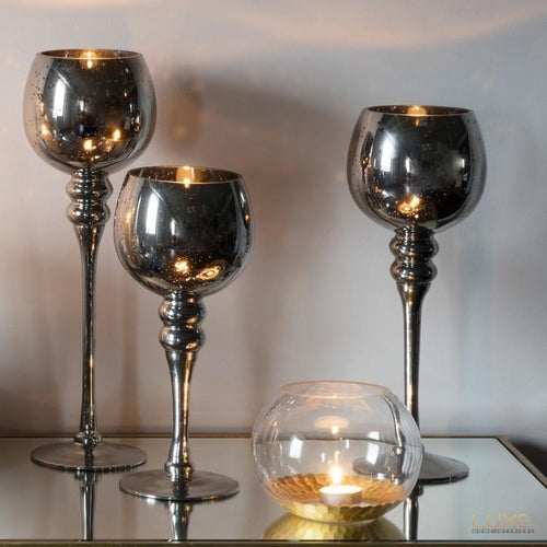 Farnesia Candle Holder (Set Of 3) - LUXE Home Interiors