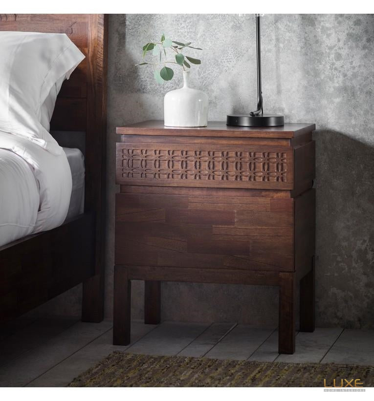 Boho Retreat Bedside 2 Drawer Chest - LUXE Home Interiors