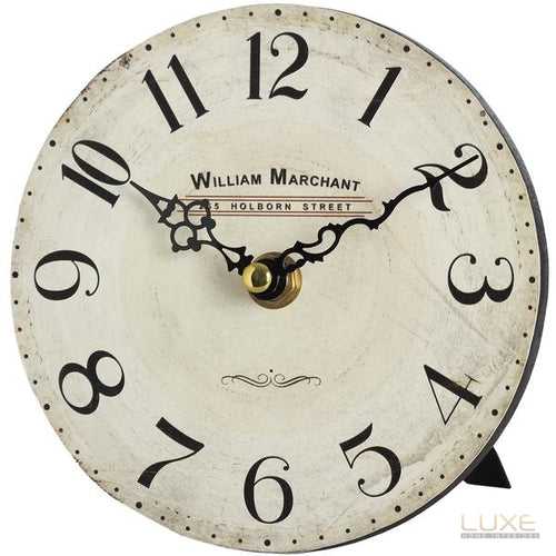 William Marchant Small Shelf Clock with Stand - LUXE Home Interiors