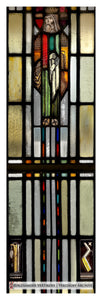 """Medieval King in Stained Glass"" detail print - Edgar Miller"