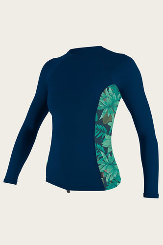O'neill Women's Side Print L/S Rash Guard - OceanAir Sports