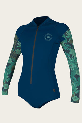 O'Neill Women's FRONT ZIP L/S SURF SUIT