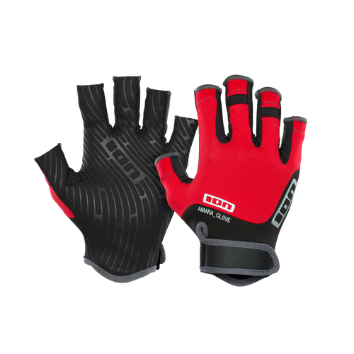2019 Ion Amara Gloves Half Finger - RED - OceanAir Sports
