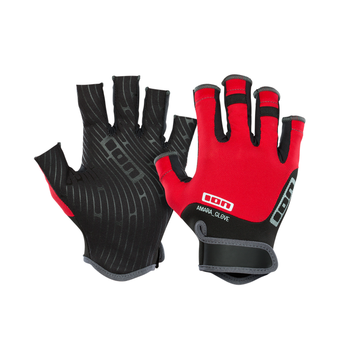 2019 Ion Amara Gloves Half Finger - RED