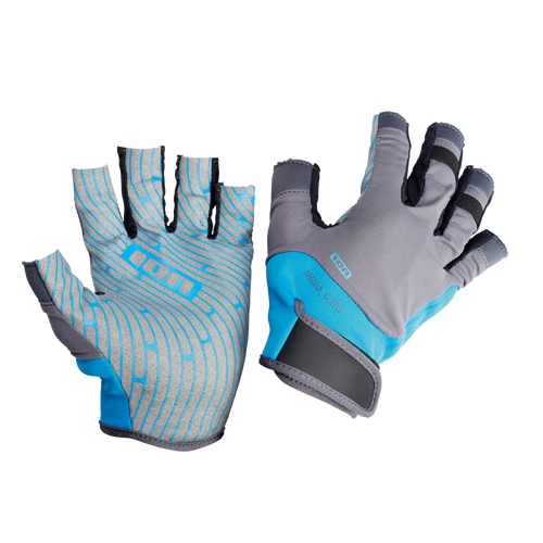 2019 Ion Amara Gloves Half Finger - Blue/Grey