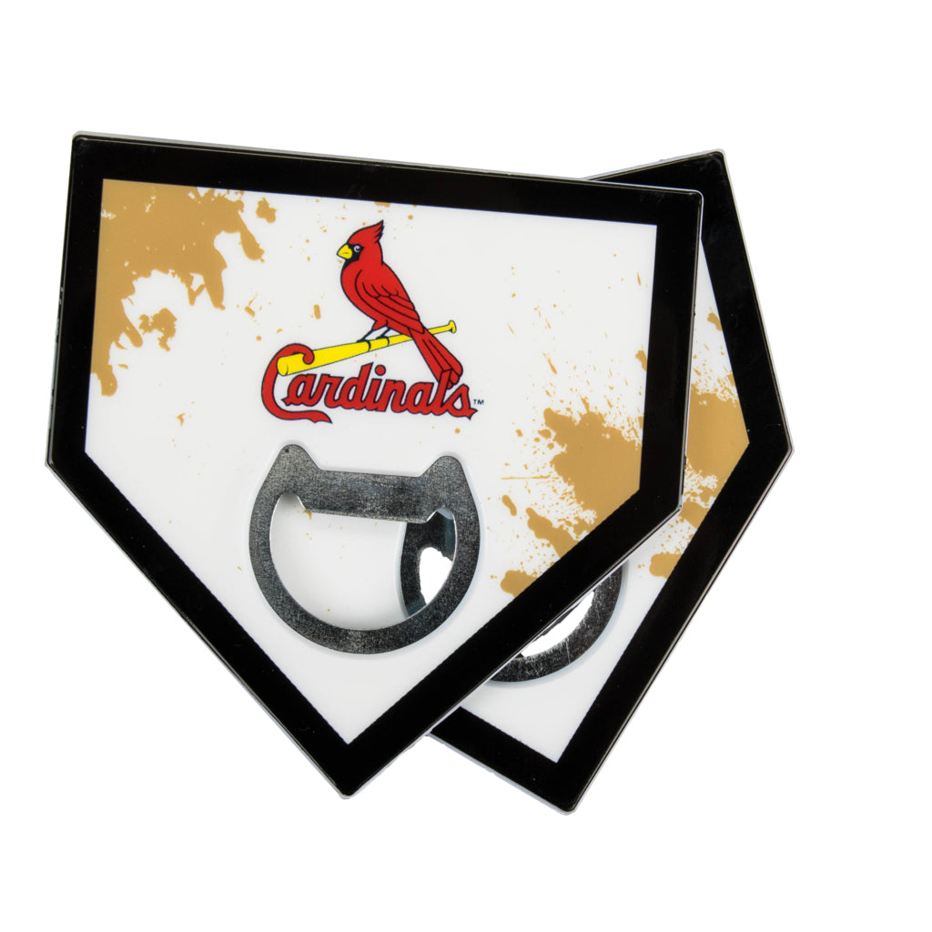 St Louis Cardinals Home Plate Bottle Opener Coasters