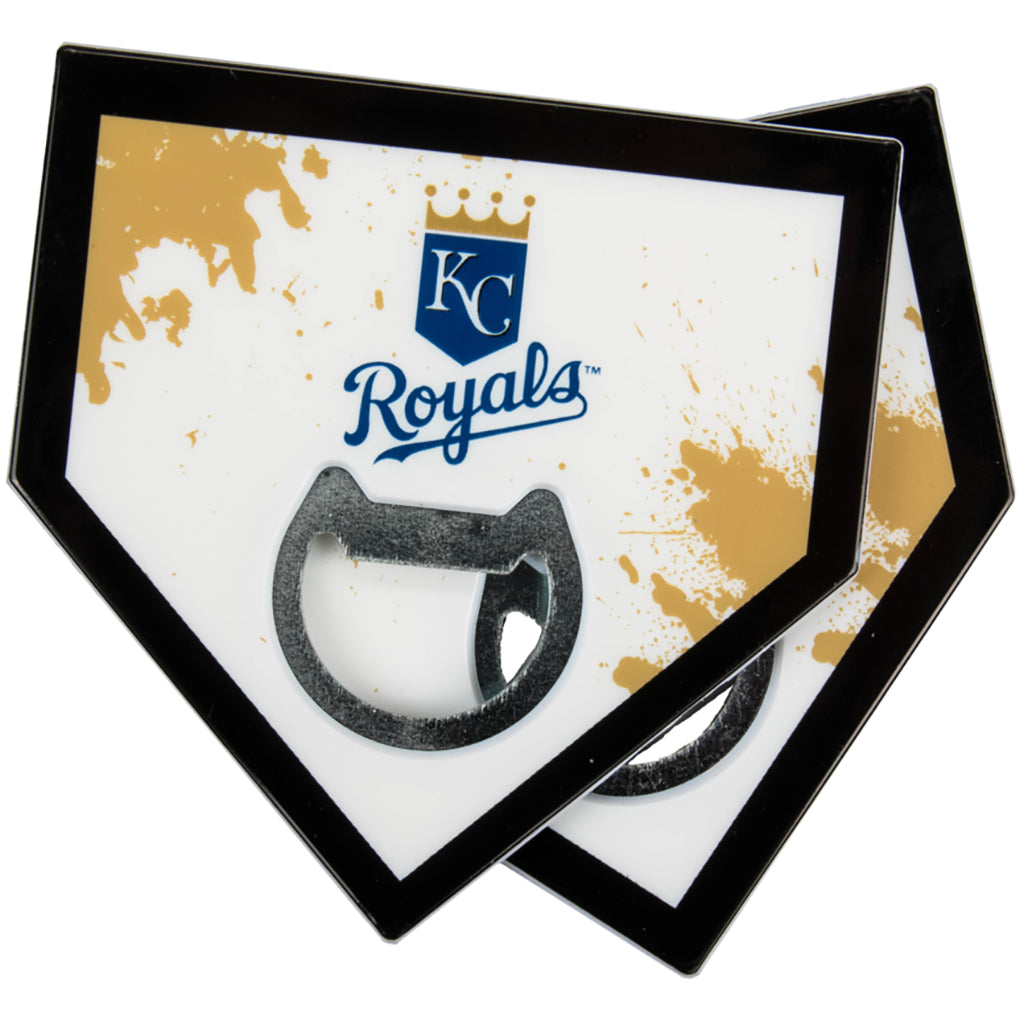 Kansas City Royals Home Plate Bottle Opener Coasters