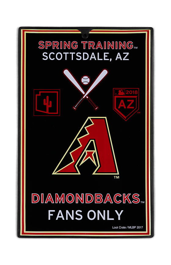 Arizona Diamondback Metal Sign