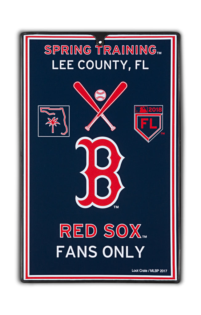 Boston Red Sox Metal Sign