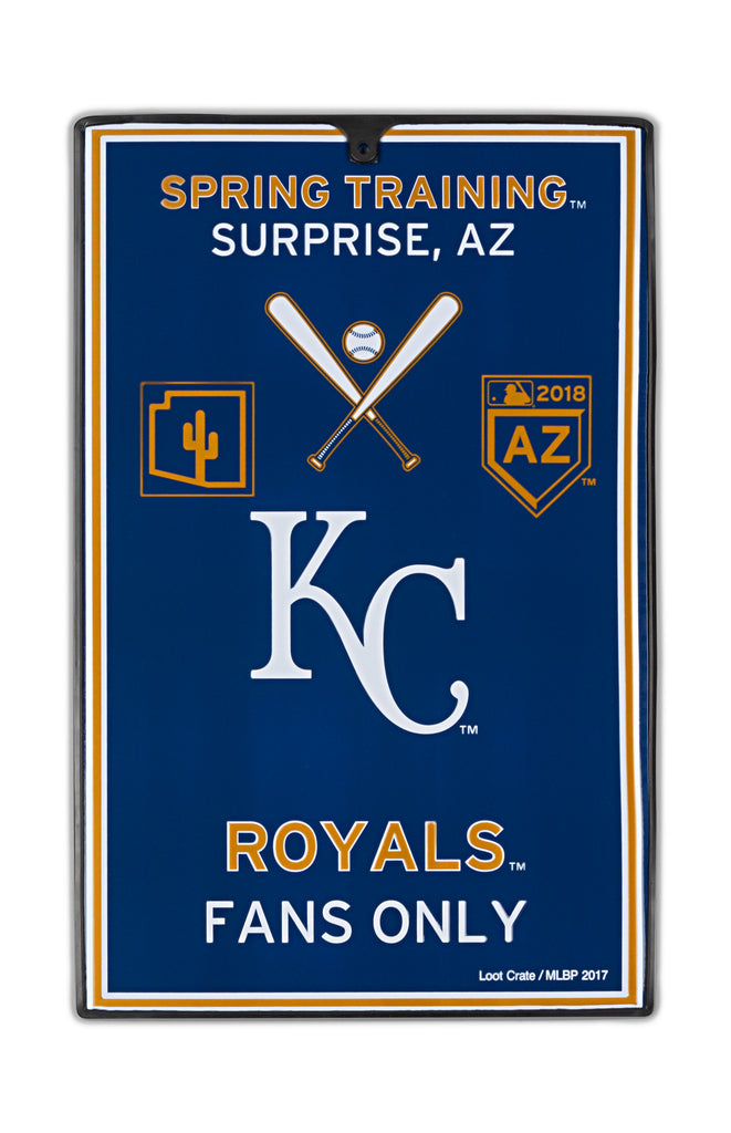 Kansas City Royals Metal Sign