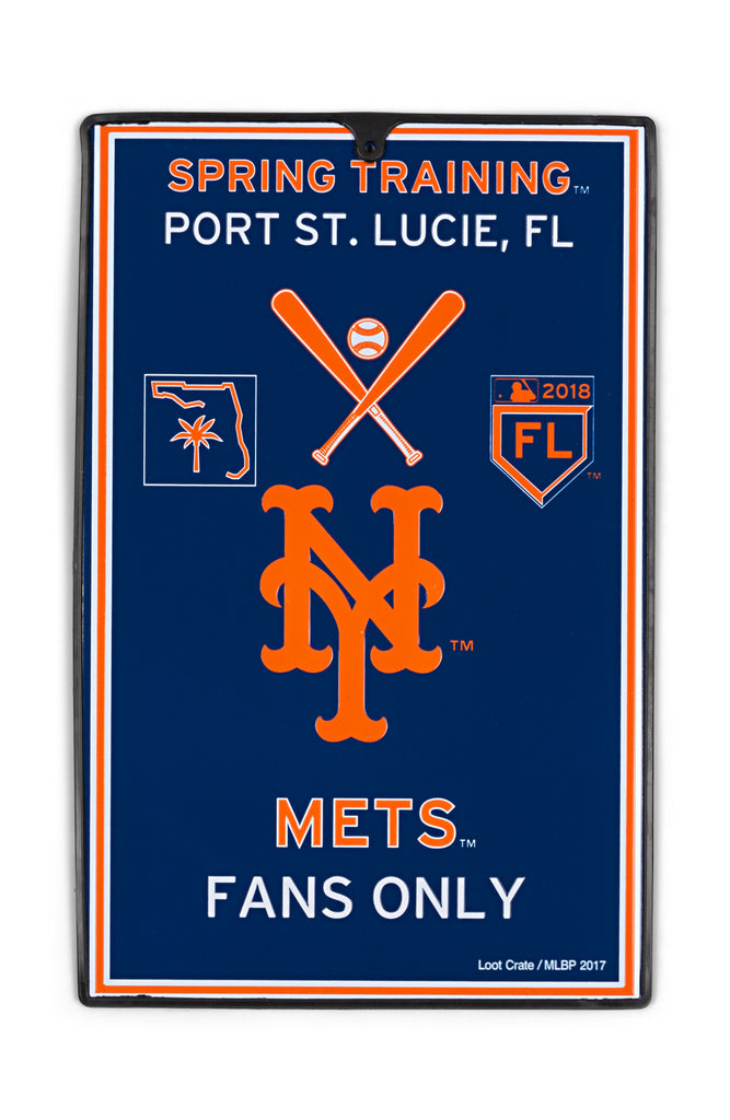 NY Mets Metal Sign